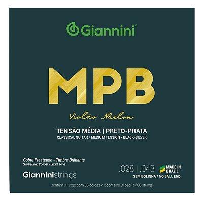 Encordoamento Violão Nylon Giannini MPB .028 Tensão Média GENWBS