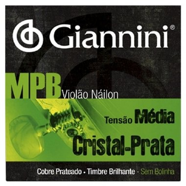 Encordoamento Violão Nylon Giannini MPB .028 Tensão Média GENWS