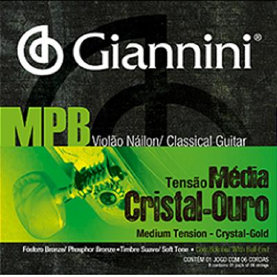 Encordoamento Violão Nylon Giannini MPB Cristal/Ouro .028 GENWG