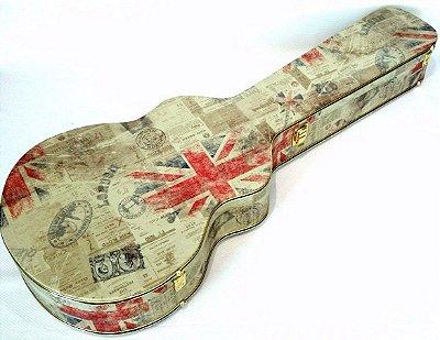 Estojo Violão Folk Tema Inglaterra Fama