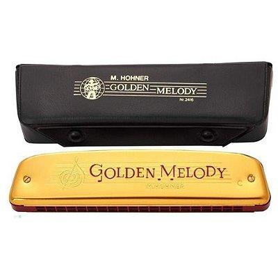 Gaita Diatônica Hohner Golden Melody Tremolo 2416/40 C Dó