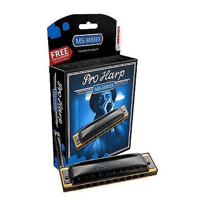Gaita Diatônica Hohner Pro Harp 562/20 C Dó