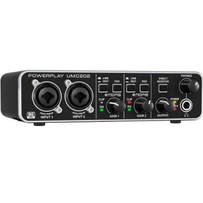 Interface de Áudio Behringer U-Phoria UMC202 HD