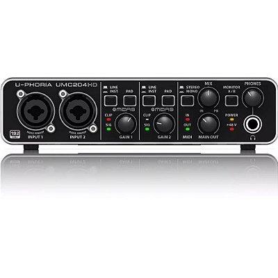 Interface de Áudio Behringer U-Phoria UMC204 HD