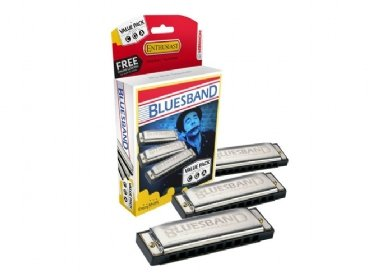 Kit 3 Gaitas Hohner Blues Band M559XP C (Dó) - G (Sol) - A (Lá)