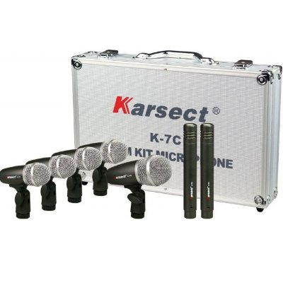 Kit Microfone para Bateria Karsect K-7C