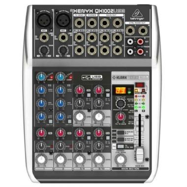 Mesa de Som 10 Canais Behringer Xenyx QX1002 USB