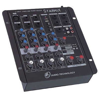 Mesa de Som 04 Canais LL Áudio Starmix US402R