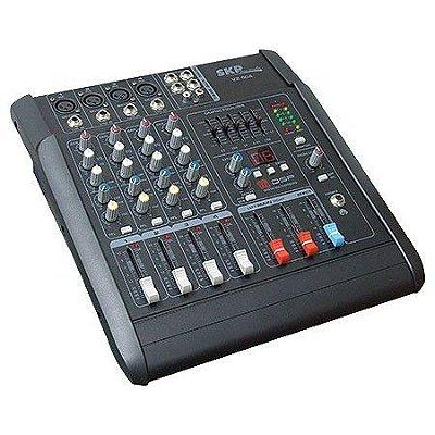 Mesa de Som 04 Canais SKP Pro Audio Amplificada VZ40A 400W