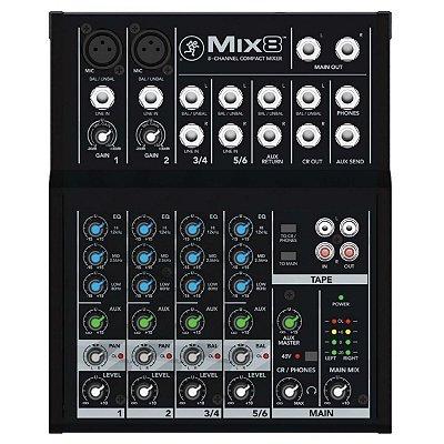 Mesa 08 Canais Mackie Mix8