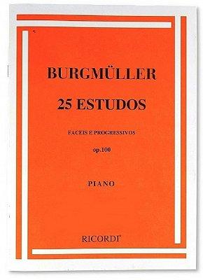 Método 25 Estudos Fáceis e Progressivos Burgmuller OP 100