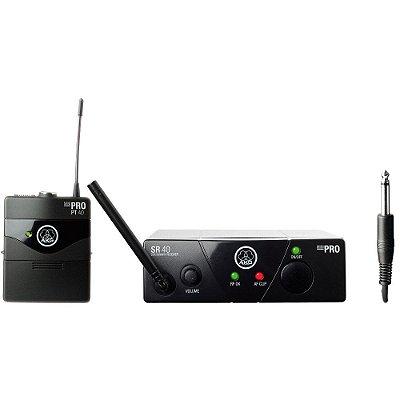 Microfone Headset Sem Fio AKG UHF WMS Pro 40PT
