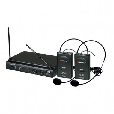 Microfone Headset Sem Fio Duplo Karsect KRU302
