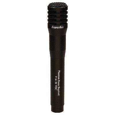 Microfone de Mão Condensador Superlux PRA268A