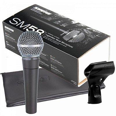 Microfone de Mão Shure SM58 LC