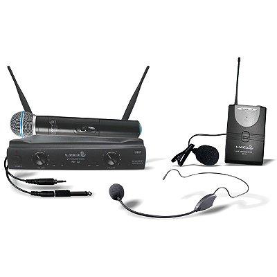 Microfone sem Fio de Mão / Cabeça / Lapela Lyco UH02MHLI