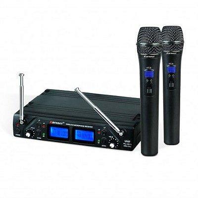 Microfone sem Fio de Mão Duplo Karsect KRU362