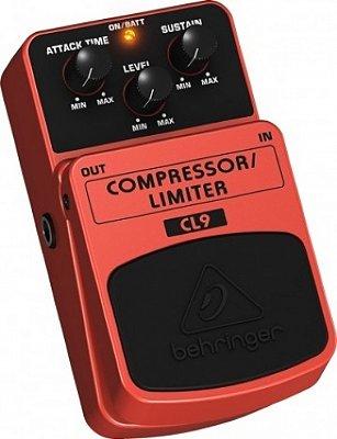 Pedal para Baixo Guitarra Violão Compressor Limiter Behringer CL9