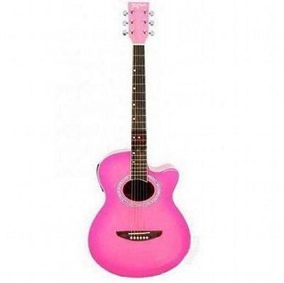 Violão Elétrico Aço Tagima Dallas Pink