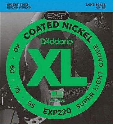Encordoamento Contrabaixo 4 Cordas .040 D'Addario EXP220