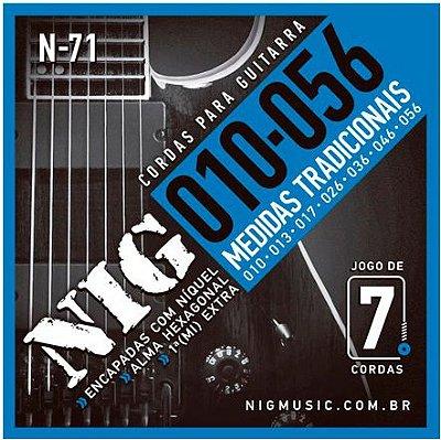 Encordoamento Guitarra .010 NIG 7 Cordas N-71