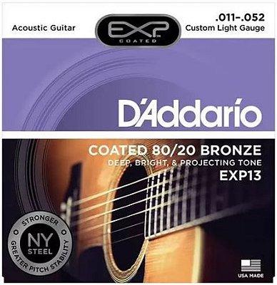 Encordoamento Violão Aço .011 D'Addario Light EXP13