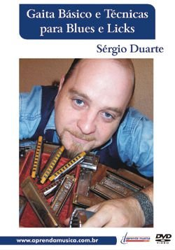DVD Gaita Básico e Técnicas para Blues e Licks Sérgio Duarte