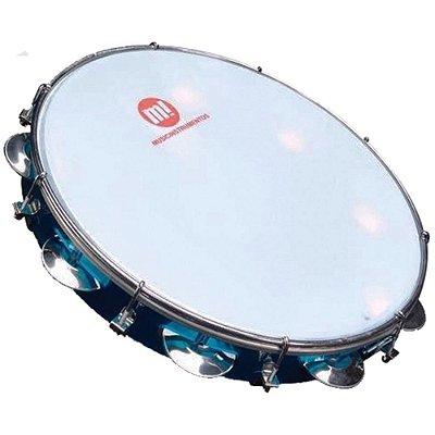 """Pandeiro 10"""" Acrilico PHX 82ABL Azul"""