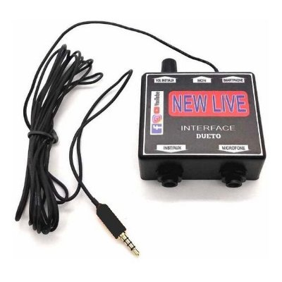 Interface Placa de Áudio New Live Dueto para Smartphone
