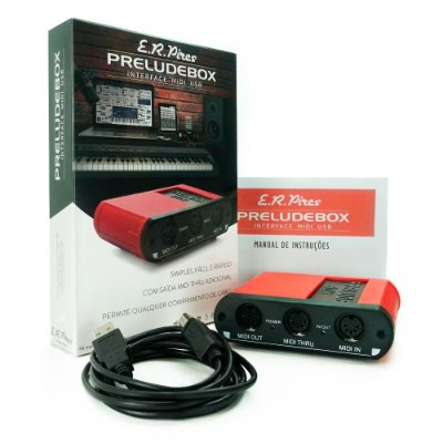 Interface Midi USB E. R. Pires Prelude Box