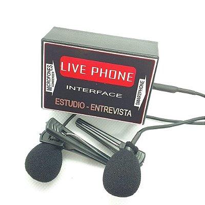 Kit Microfone Lapela Entrevista para Smartphone New Live