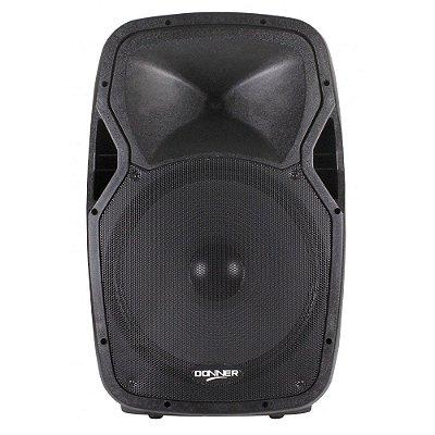 "Caixa Amplificada 15"" LL Áudio Donner Edge 1500 300W"