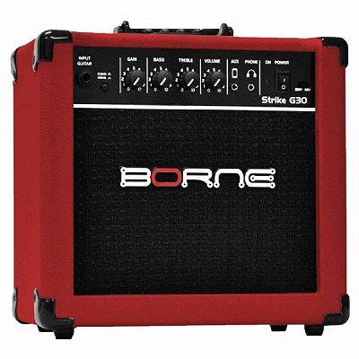 Amplificador Guitarra Borne Strike G30 Vermelho 15W
