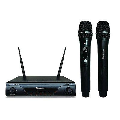 Microfone sem Fio de Mão Duplo Kadosh K-412M Recarregável