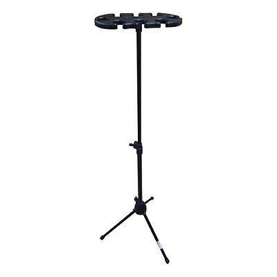 Pedestal para Descanso de 6 Microfones Zad Som Saty PM-6