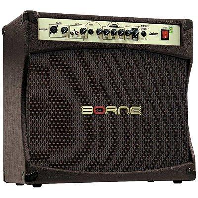 Amplificador Violão Borne Infinit CV12100 Marrom 100W