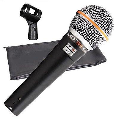 Microfone de Mão Kadosh Dinâmico K-58A