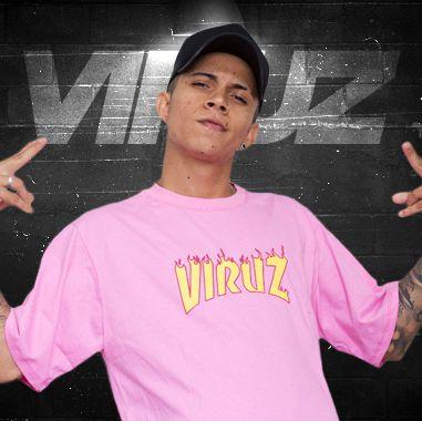 Camisa Viruz (Fogo) - Rosa