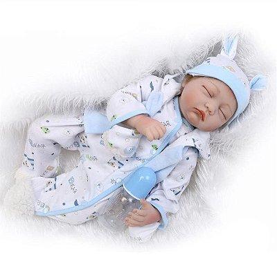 22inch Reborn Baby Boneca Handmade Lifelike Realistic Newborn Kids Toys Silicone. Entrega de 15 a 25 Dias a partir da data de envio. .