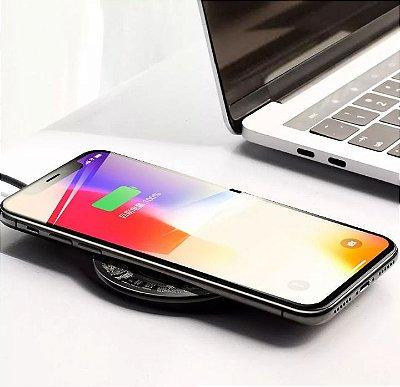 baseus 10W Visível Qi sem fio Rápido QC3.0 Almofada de Carregador para iPhone X S9 S8 Note 8 Plus - Transparente