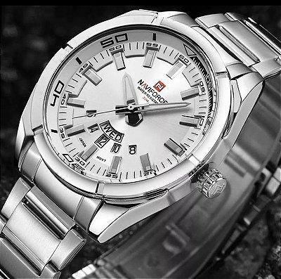 NAVIFORCE 9038 impermeável calendário homens relógio de pulso de aço completo Relógio relógios de quartzo