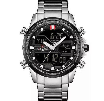 NAVIFORCE 9138S À Prova D 'Água LED Dual Relógio Digital Estilo Militar Homens Relógio De Pulso