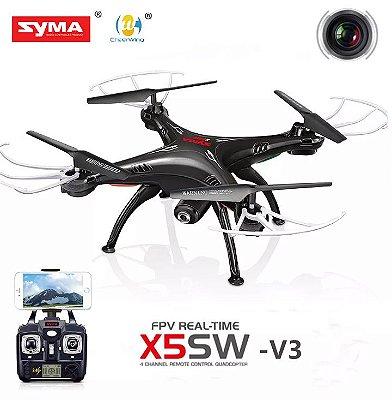 Drone Syma X5sw 5 Baterias Camera Fpv Wifi Completo A Pronta Entrega
