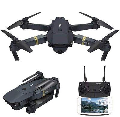 Eachine E58 WIFI FPV com Câmera de Grande Angular de 2MP Modo de Retenção Elevada Dobrável RC Drone Quadricóptero RTF - Ângulo largo de 2.0MP 720P Três baterias With Storage Bag