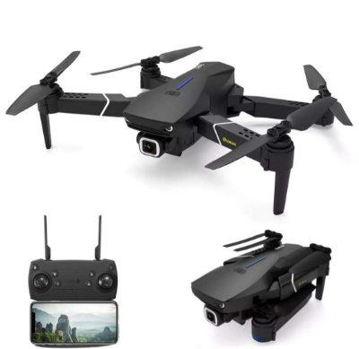 Eachine E520S GPS WI-FI FPV Com 4 K / 1080P HD Câmera 16mins Tempo de Vôo Dobrável RC Drone Quadricóptero - 5G WiFi 4K HD Três baterias