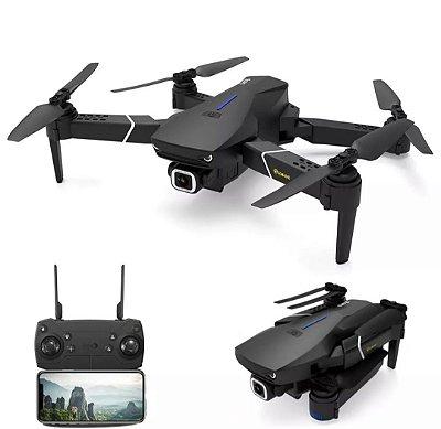 Eachine E520S GPS WI-FI FPV Com 4 K / 1080P HD Câmera 16mins Tempo de Vôo Dobrável RC Drone Quadricóptero - Preto 2.4G WiFi 4K HD Duas baterias Compra Segura Entrega Em Até 25 dias Uteis
