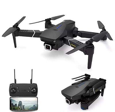 Eachine E520S GPS WI-FI FPV Com 4 K / 1080P HD Câmera 16mins Tempo de Vôo Dobrável RC Drone Quadricóptero - Preto 2.4G WiFi 4K HD Uma bateria Produto Importado Entrega Em 25 Dias Uteis