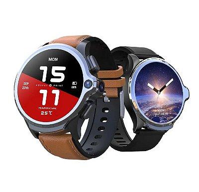[Desbloqueio facial] Kospet Prime Sistema de chip duplo 3G + 32G 4G-LTE Watch Phone Câmeras duplas 1260 mAh Bateria Capacidade GPS Relógio inteligente - Preto Produto Importado Entrega Em 25 Dias Uteis