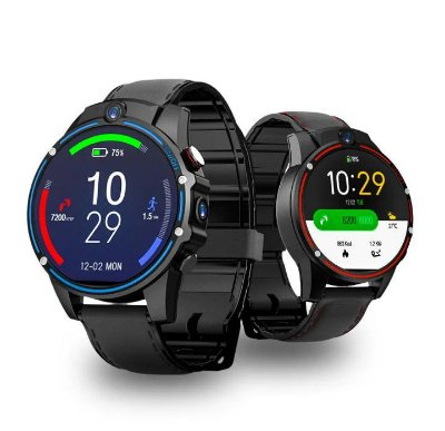 Kospet Vision Tela de cristal LTPS de 1,6 '' 3G + 32G 5,0MP Câmera frontal frontal Câmera de vídeo 4G-LTE 800mAh Google Play Pulseira de couro Google Play Smart Watch Phone - Azul Produto Importado Entrega Em 25 Dias Uteis