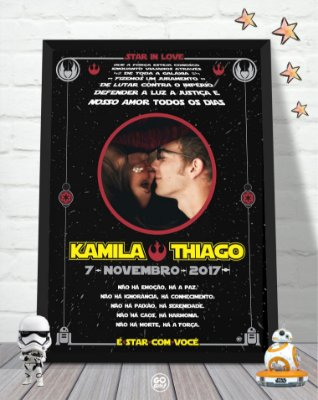 Quadro Star in Love - Star Wars